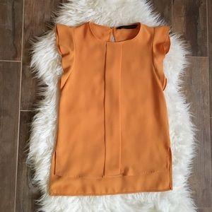 Zara Flutter Sleeve Blouse